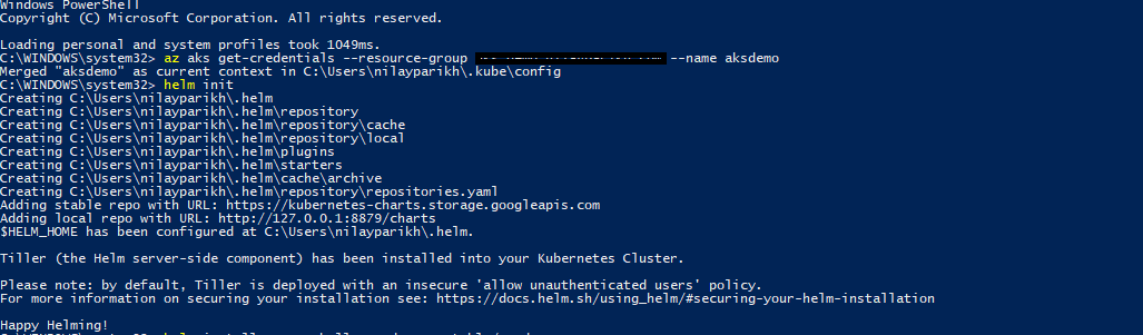 Getting Started with Helm and Azure Kubernetes Services (AKS