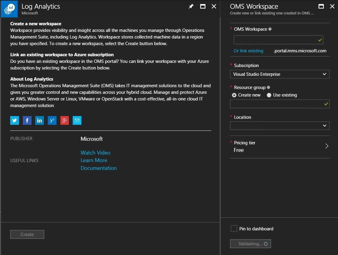 Guide: Setup Microsoft Operations Management Suite (OMS) in Azure