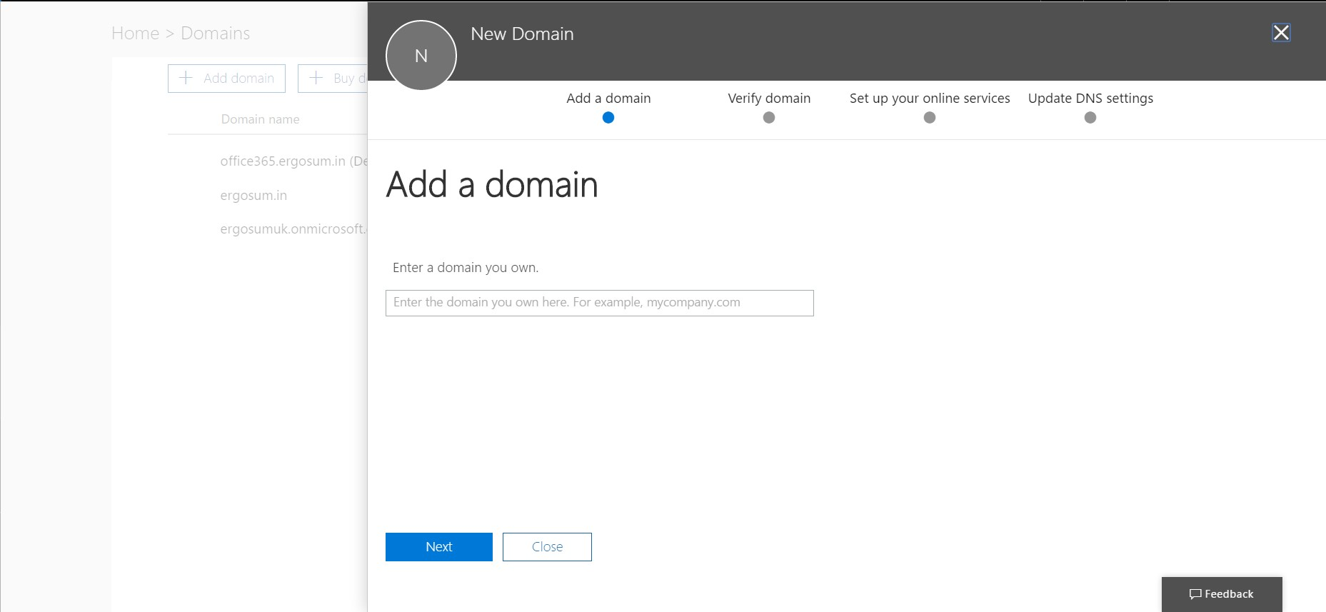Guide: How to add custom domain to Office 365 - Nilay\'s Corner